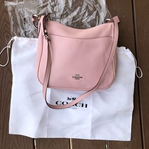 Coach Chaise Crossbody - Pink Pebbled Leather